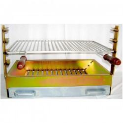 Grelhador zincado c/ grelha inox 60x40